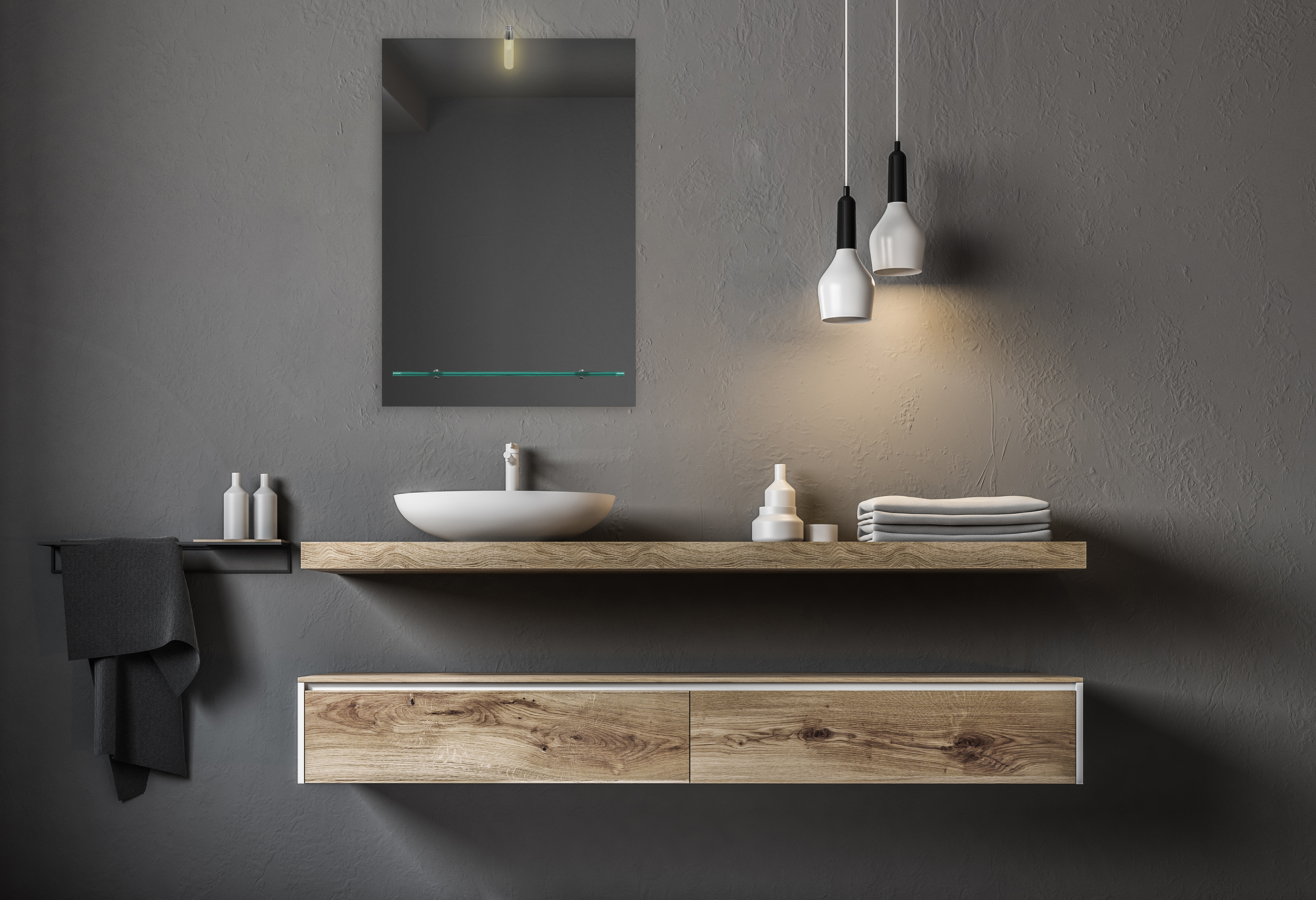 badezimmerspiegel led spiegel wandspiegel mit ablage und