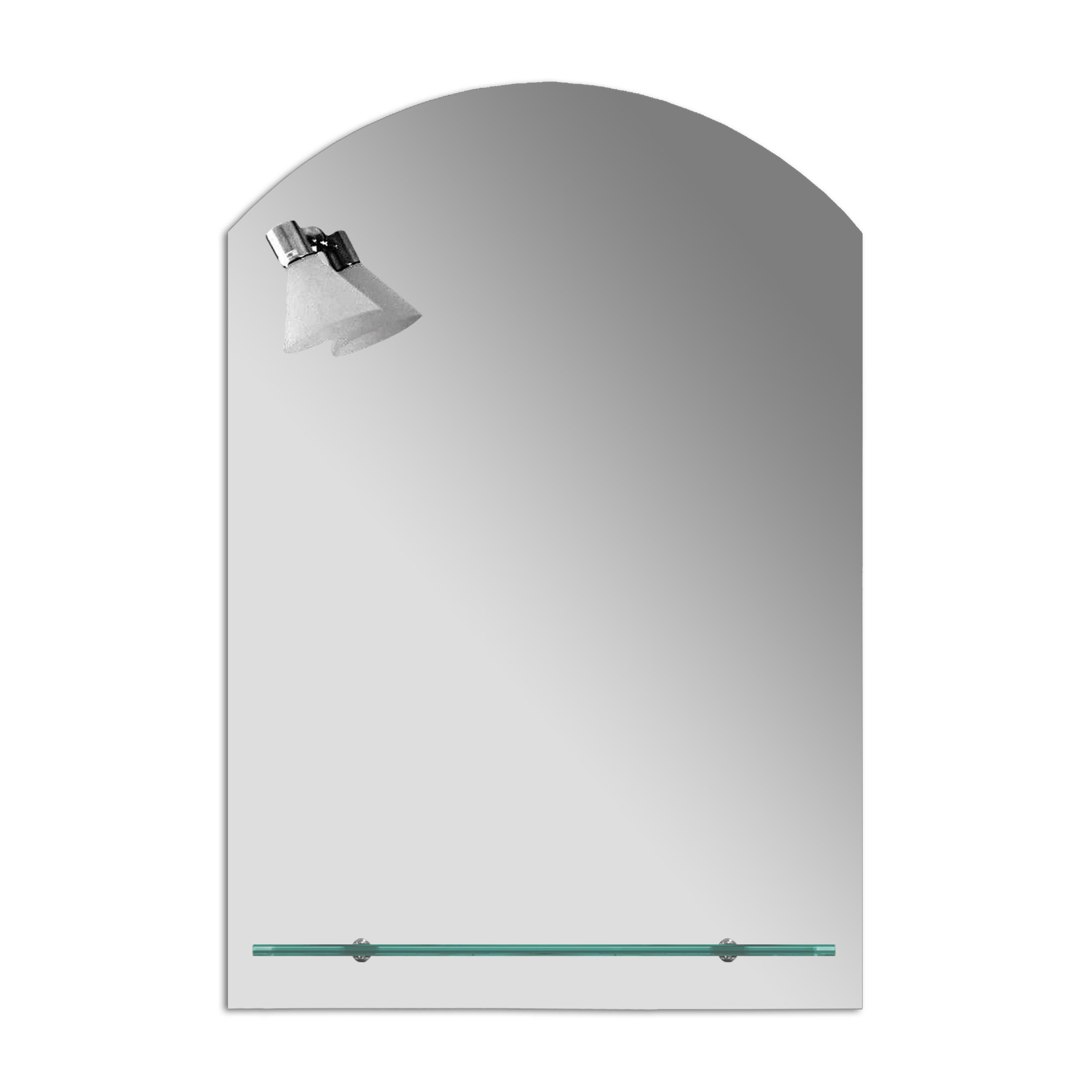 Badspiegel Spiegel mit Ablage und Beleuchtung Badezimmerspiegel Gäste WC  LED - 70 x 100 cm | Desto-Shop24