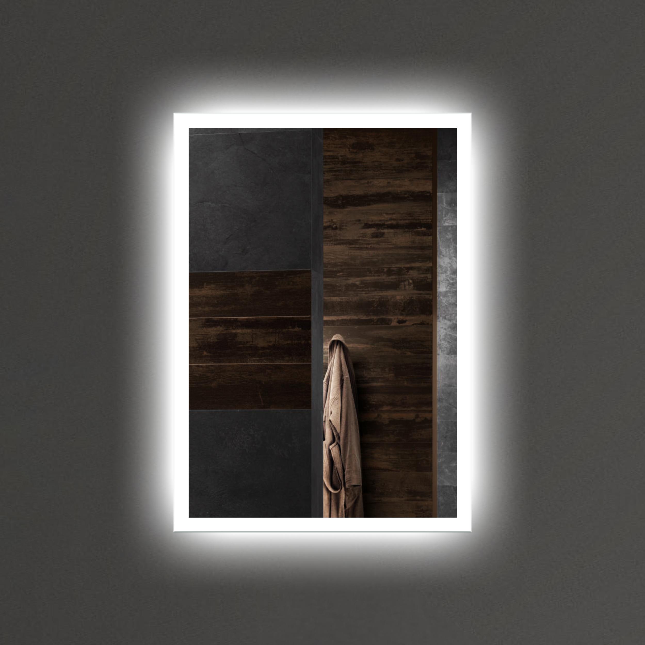 Turbo Badspiegel mit LED Beleuchtung LED Spiegel Beleuchtet Wandspiegel FE99