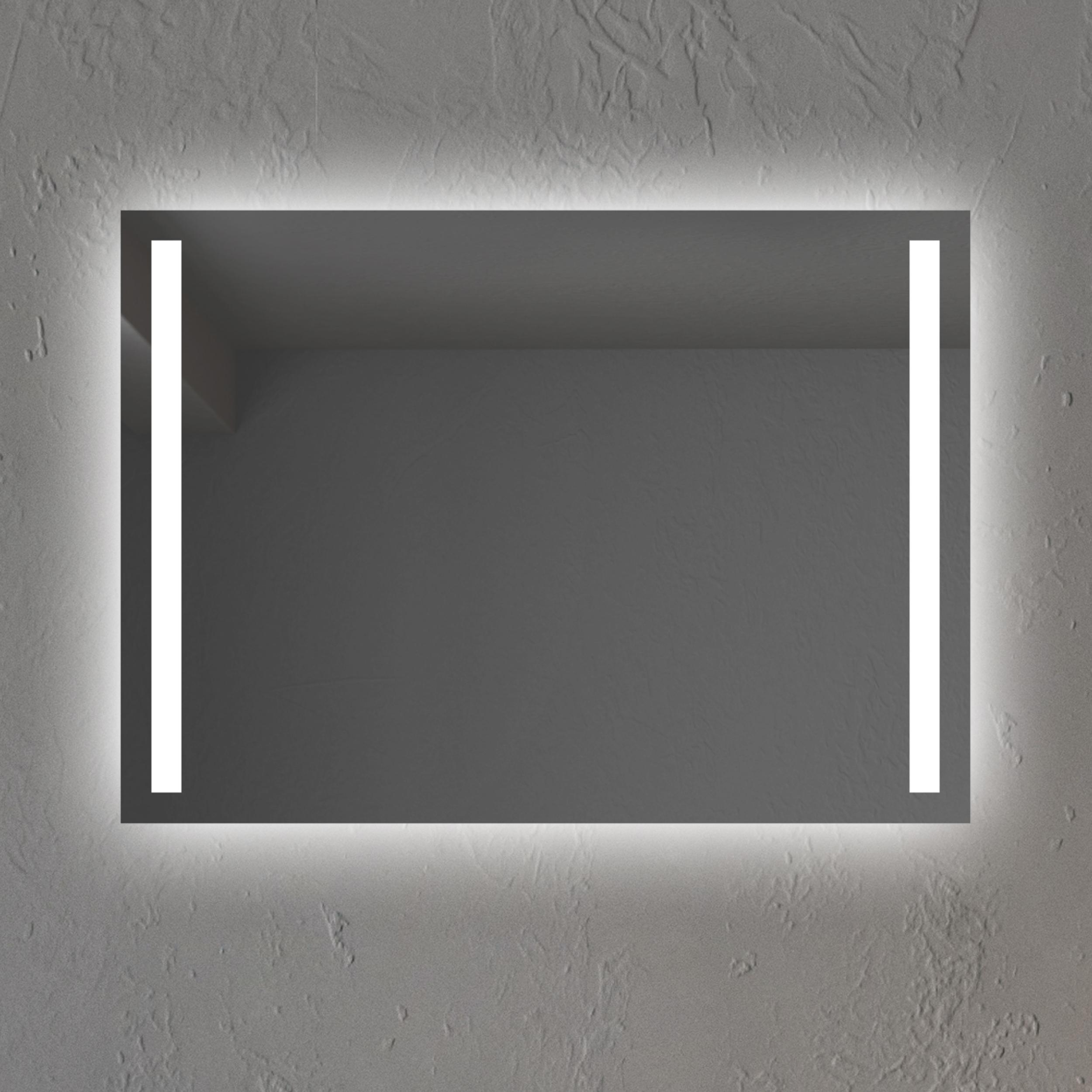 Badspiegel mit LED Beleuchtung LED Spiegel Beleuchtet Wandspiegel  Lichtspiegel Badezimmerspiegel 50 x 70 cm Modell 667475 INVIDIA
