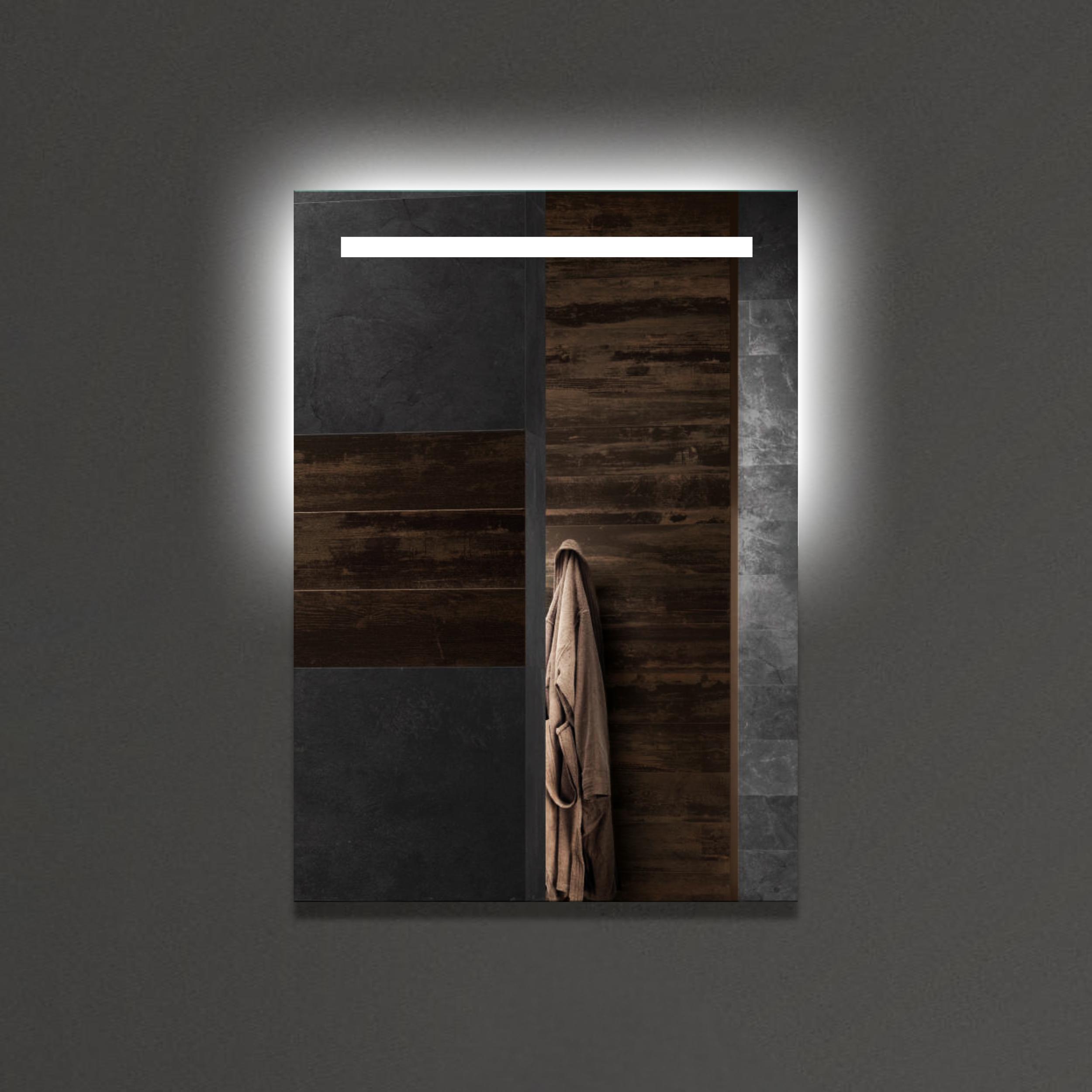 Badspiegel mit LED Beleuchtung LED Spiegel Beleuchtet Wandspiegel  Lichtspiegel Badezimmerspiegel 50 x 70 cm Modell 667475 INVIDIA |  Desto-Shop24