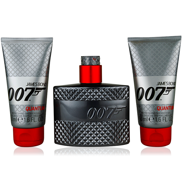 James Bond 007 Quantum Eau de Toilette 50ml + 2x Shower Gel 50ml