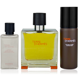 Hermès Terre d'Hermès Eau de  Parfum 75ml + 40ml After Shave Lotion + 50ml AS Foam
