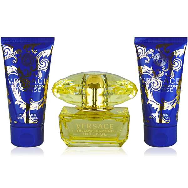 Versace Yellow Diamond Intense Eau de Parfum 50ml + Body Lotion 50ml + Shower Gel 50ml