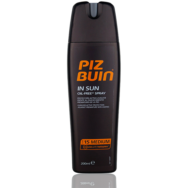 Piz Buin In Sun Oil Free Spray SPF 15 200ml