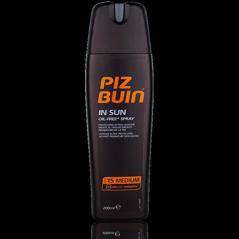 Piz Buin In Sun Oil Free Spray SPF 15 200ml