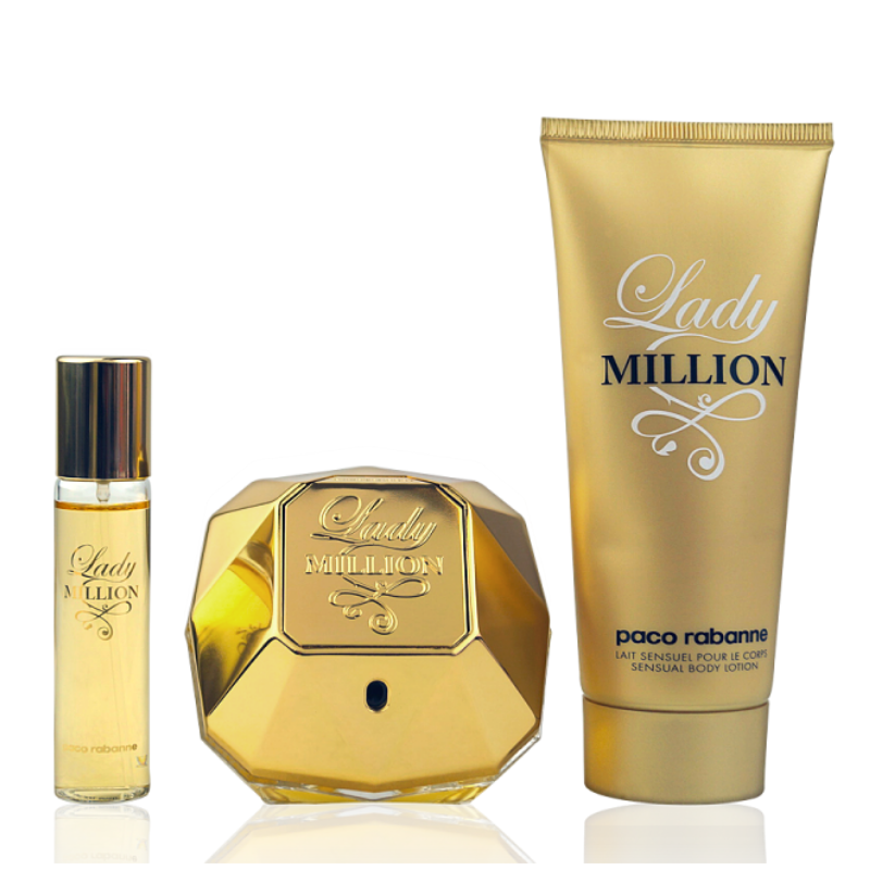Paco Rabanne Lady Million Eau de Parfum 80ml + Body Lotion 100ml + EdP Mini 10ml