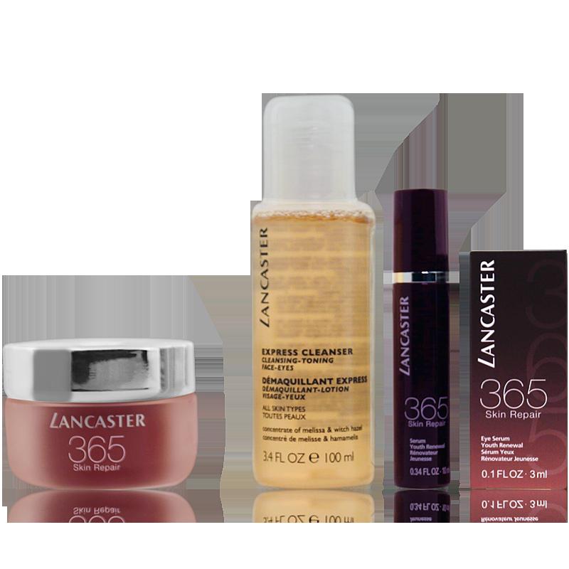 Lancaster 365 Skin Repair Set Day Cream 50ml + Repair Serum 10ml + Eye Serum 3ml + Cleanser 100ml