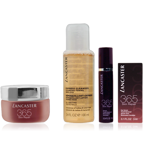 Lancaster 365 Skin Repair Set Day Cream 50ml + Repair Serum 10ml + Eye Serum 3ml + Cleanser 100ml