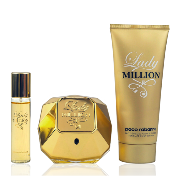 Paco Rabanne Lady Million Eau de Parfum 80ml + Body Lotion 100ml + EdP Mini 5ml