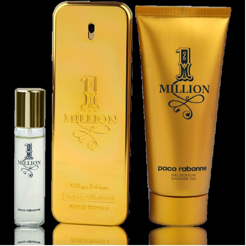 Paco Rabanne One Million Eau de Toilette 100ml + Shower Gel 100ml + EdT Mini 5ml