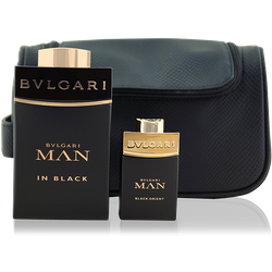 Bvlgari Bulgari Man In Black EdP 100ml + Man In Black Orient EdP 15ml + Tasche