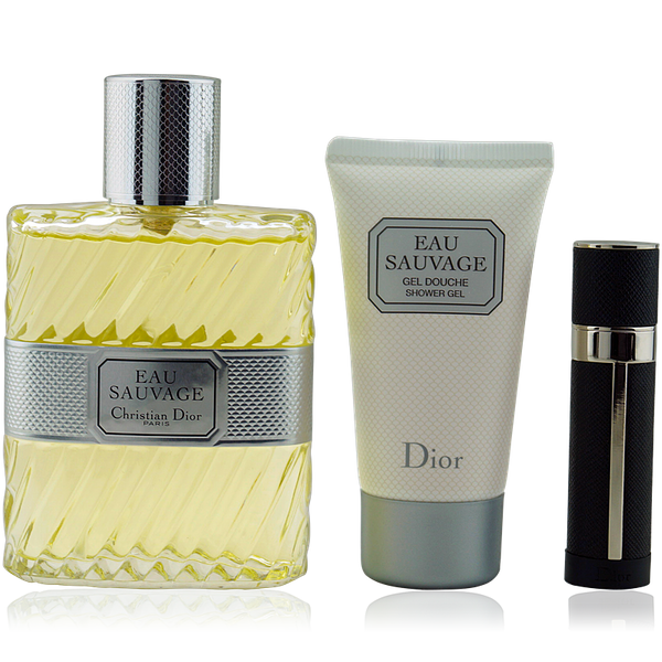 Dior Eau Sauvage Eau de Toilette 100ml + Shower Gel 50ml + Mini 3ml