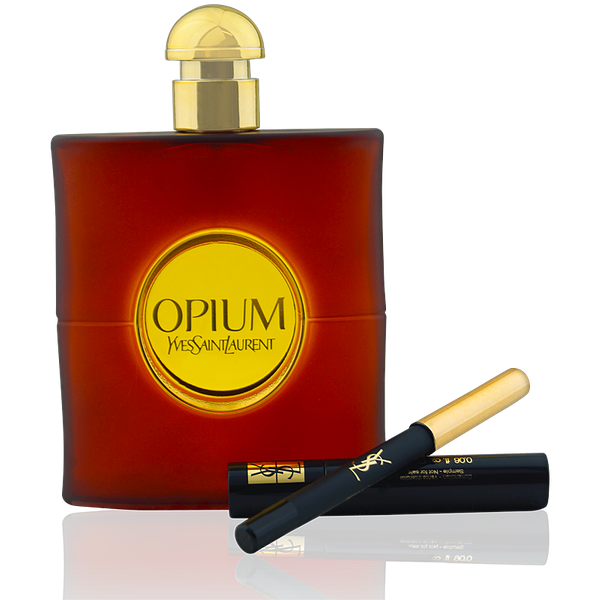 Yves Saint Laurent YSL Opium EdT 90ml + EdT Mini Spray 10ml + Beauty Tasche