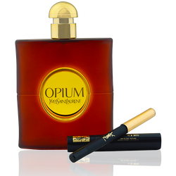 Yves Saint Laurent YSL Opium EdT 90ml + EdT Mini Spray 10ml + Beauty Tasche