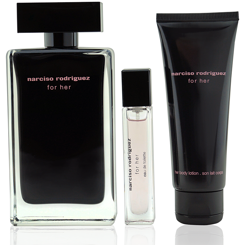 Narciso Rodriguez for Her Eau de Toilette 100ml + Body Lotion 75ml + Mini 10ml