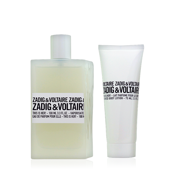 Zadig & Voltaire This is Her! Eau de Parfum 100ml + Body Lotion 75ml