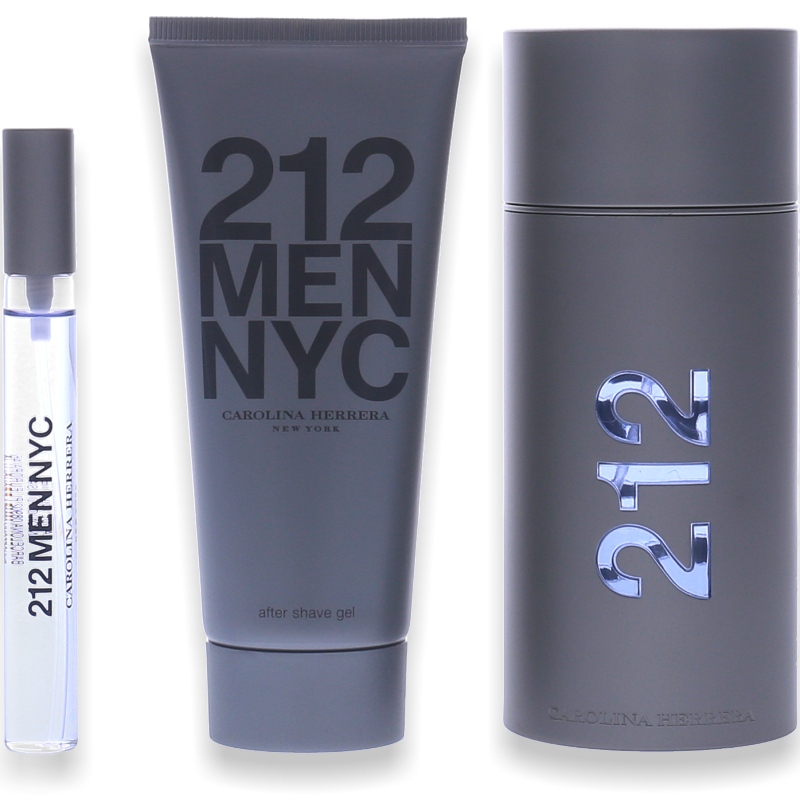 Carolina Herrera 212 Men Eau de Toilette 100ml + After Shave Gel 100ml + Mini - Parfüm für Dich