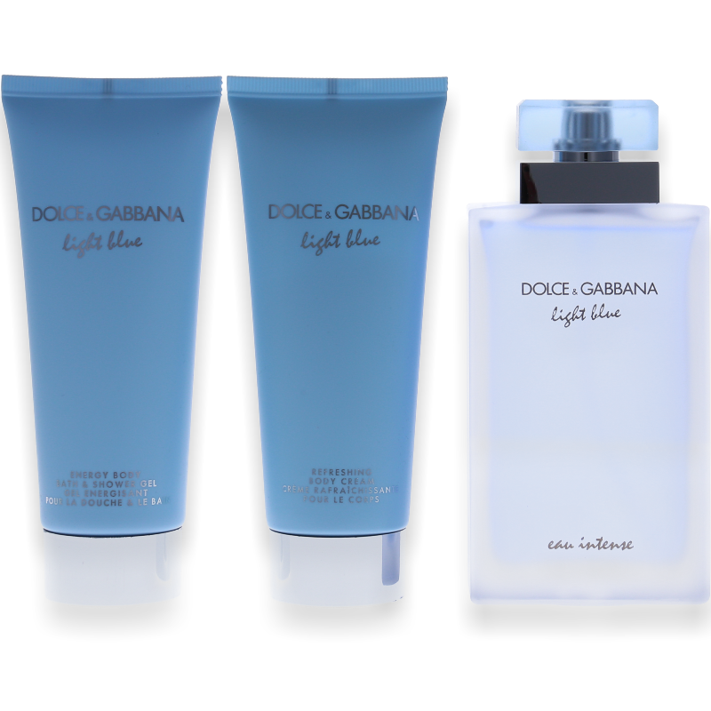 Dolce & Gabbana Light Blue Eau Intense Eau de Parfum 100ml + Body Lotion 100ml + Shower Gel 100ml