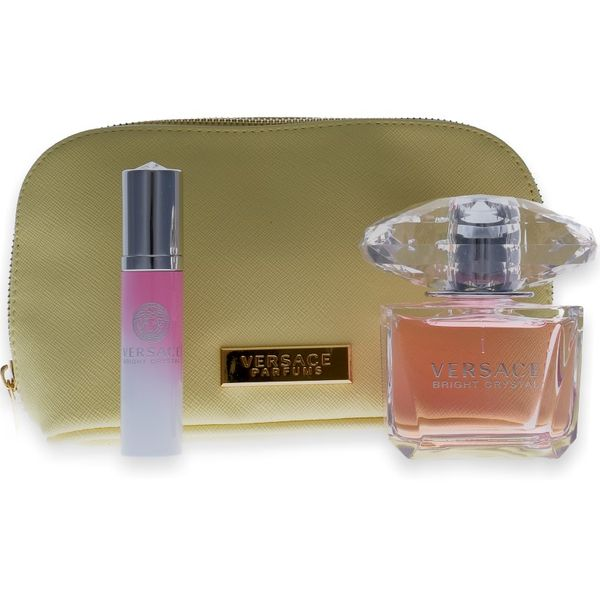 Versace Bright Crystal Eau de Toilette 90ml + Mini 10ml + Tasche
