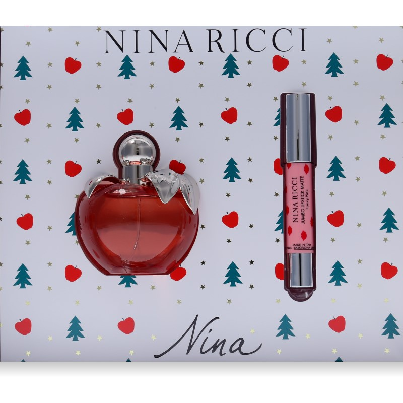 Nina Ricci Nina Eau de Toilette 80ml + Lipstick