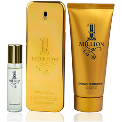 Paco Rabanne One Million Eau de Toilette 100ml + Shower Gel 100ml + EdT Mini 10ml