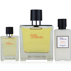 Hermès Terre d'Hermes Set Eau de Parfum 75ml + Parfum Spray Mini 12,5ml + After Shave Balm 40ml
