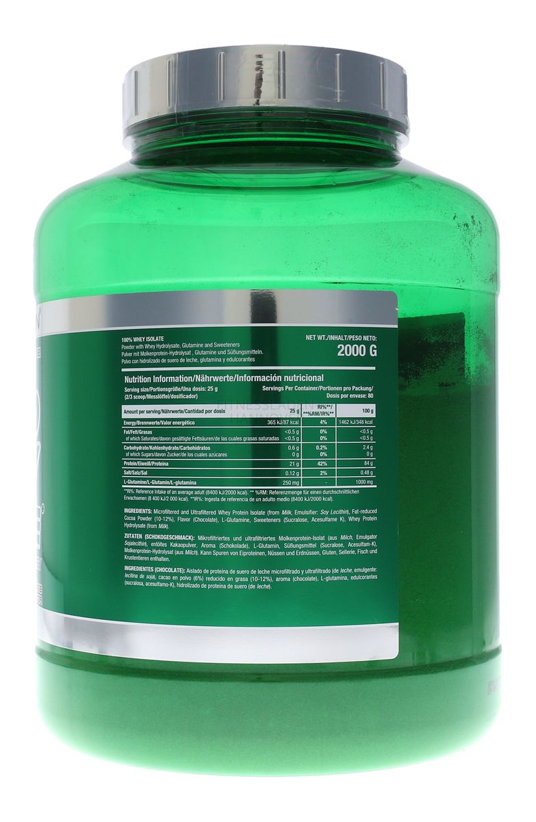 Scitec Nutrition 100% Whey Isolate mit L-Glutamin - 2000g Dose