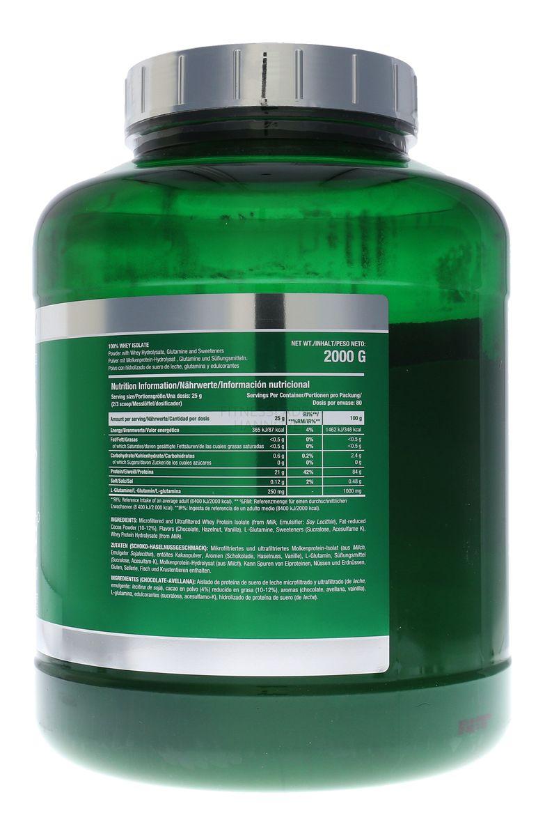 Scitec Nutrition 100% Whey Isolate mit L-Glutamin - 2000g Dose