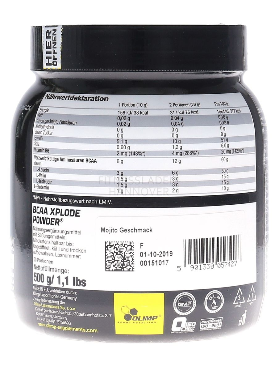 Olimp BCAA Xplode Powder - 500g Dose