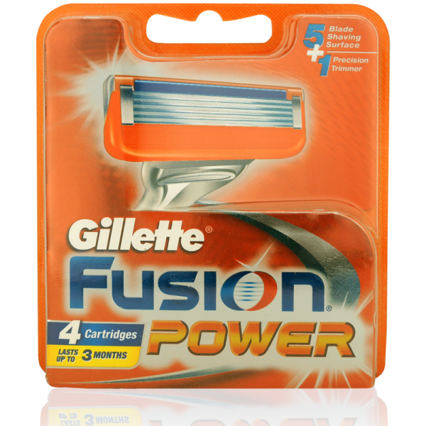 Gillette Fusion Power Rasierklingen 4er Pack