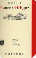 Weißwein Weingut  Lorenz Kunz Riesling QbA halbtrocken   – Bild 2