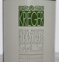 Weißwein Weingut Krieger Pfalz Riesling Rhodter Ordensgut  halbtrocken (6x1,0L) – Bild 2