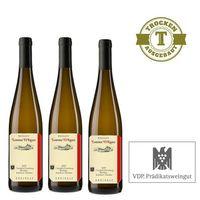 Weißwein Weingut  Lorenz Kunz Riesling Oestrich Doosberg Kabinett 2013 trocken (3x1,0l)   – Bild 1