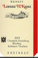 Weißwein Weingut  Lorenz Kunz Riesling Oestrich Doosberg Kabinett 2013 trocken (6x1,0l)   – Bild 2