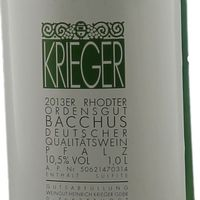 Weingut Krieger Bacchus Rhodter Ordensgut mild 2017 (12 x 1,0 l) - VERSANDKOSTENFREI - – Bild 2