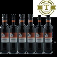 Rotwein Pfalz Dornfelder Qualitätswein halbtrocken 2015 (6 x 0,75 l) - VERSANDKOSTENFREI -