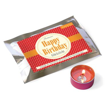 Fortunas Glückslicht / Dots / Happy Birthday / 6er Pack – Bild 2