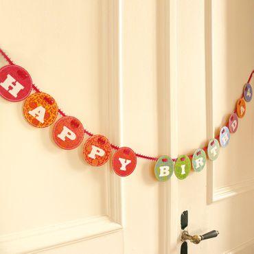 """""""Happy Birthday - Girlanden"""" - Set zum Geburtstag – Bild 3"""