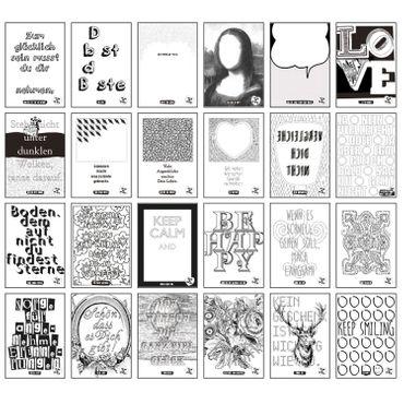"""Tablo - Ausmal Zitatbilder / Kollektion """"Von Hand und von Herzen"""" – Bild 3"""