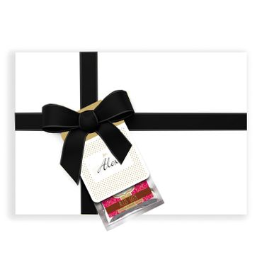 "Glücksschoko Grußanhänger ""Alles Gute"" / Schokolade & Glücksbotschaft + Grußkarte – Bild 3"