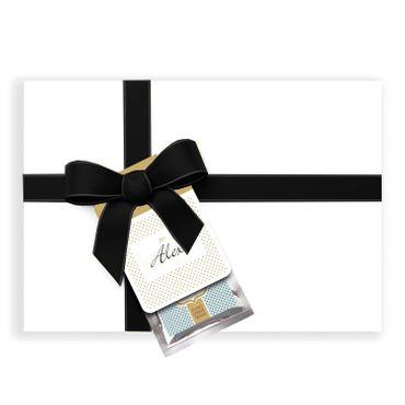 Glücksschoko Grußanhänger / Schokolade & Glücksbotschaft + Grußkarte – Bild 3