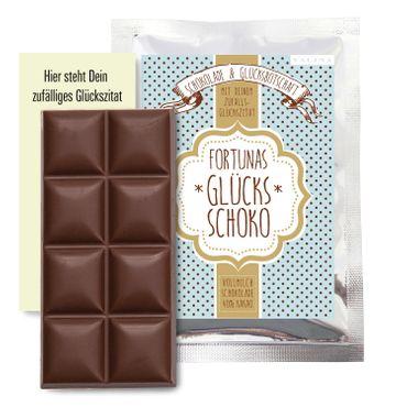 Glücksschoko Grußanhänger / Schokolade & Glücksbotschaft + Grußkarte – Bild 6