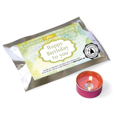 Fortunas Glückslicht / Happy Birthday to you / PLUS Meditation / 6er Pack – Bild 2