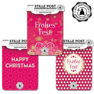 Stille Post / 3er Pack / Weihnachten / PLUS Meditation  – Bild 1