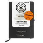 Shiny Notes / Black  A5 / PLUS Meditation / Achtsamkeit 001