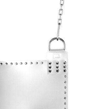 Liebesschaukel VEGRANDIS Curvus aus weißem Leder in echter Handarbeit – Bild 2