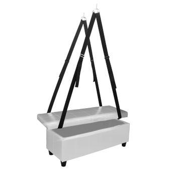 Liebesschaukel Slingbett Yara inkl. Sitzbank - Toy Box in grau – Bild 1