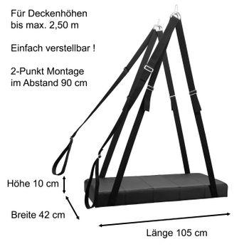 Slingbett Elea schwarz Set:  Liebesschaukel inkl.  Beinschlaufen – Bild 2