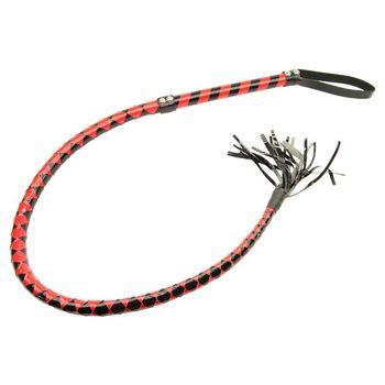 Short braided Whip black/red – Bild 1